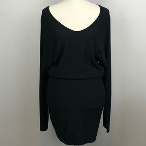 Go Couture Loose Top Fitted Bottom Black Dress M